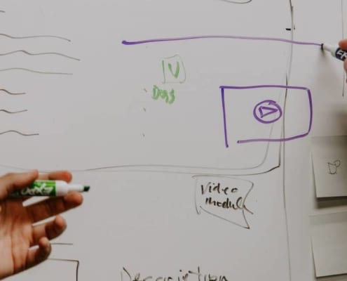 White board strategy session