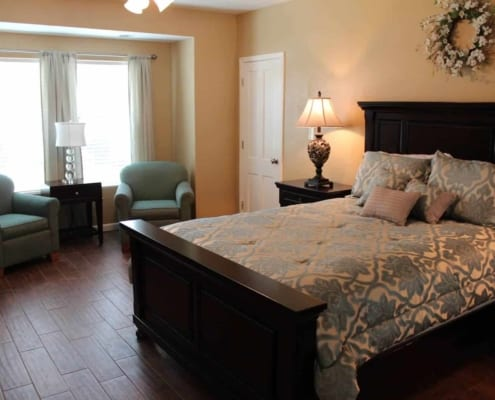 Residential assisted living master bedroom