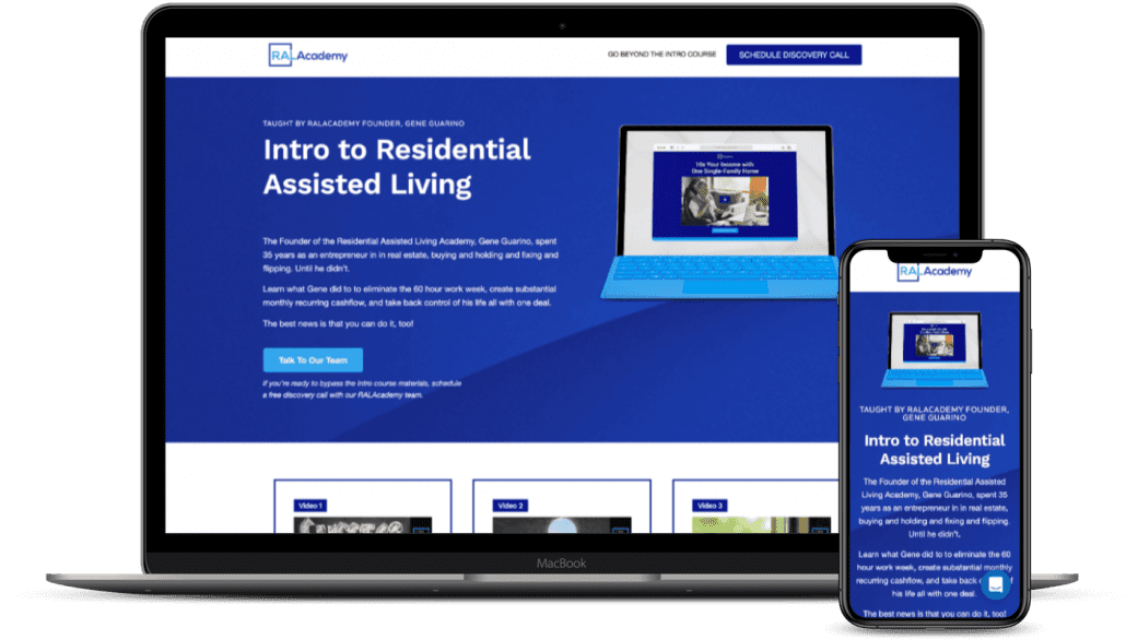 Assisted Living Intro Free Mockup